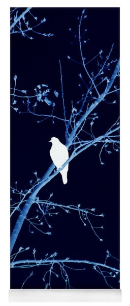 Hawk Silhouette On Blue Yoga Mat