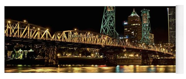 Hawthorne Bridge Over Willamette River Yoga Mat