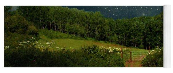 Hazy Moon Meadow Yoga Mat