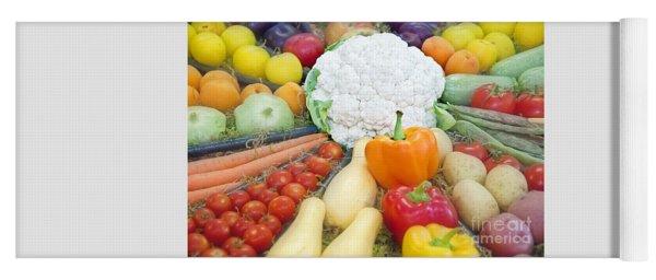 Healthy Vegetables Food Art Prints Yoga Mat