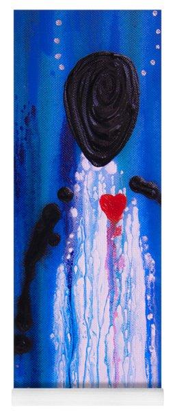 Heart And Soul - Angel Art Blue Painting Yoga Mat