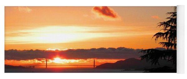Heart Cloud Over Golden Gate Bridge Yoga Mat