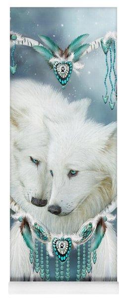 Heart Of A Wolf Yoga Mat