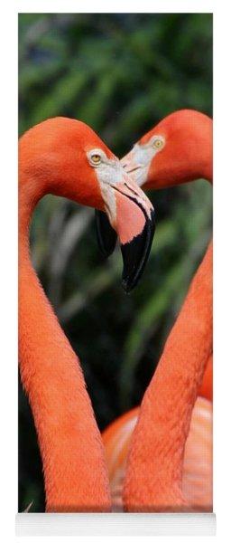 Heart To Heart Flamingo's Yoga Mat