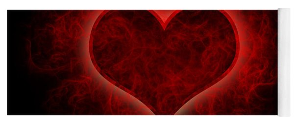 Heart's Afire Yoga Mat