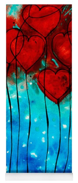 Hearts On Fire - Romantic Art By Sharon Cummings Yoga Mat