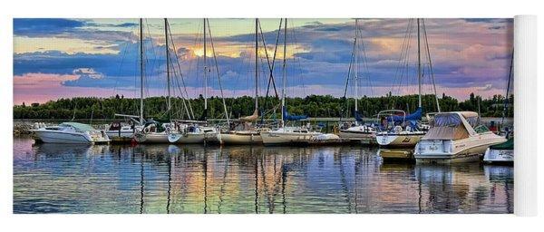 Hecla Island Boats Yoga Mat