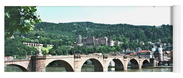 Heidelberg Schloss Overlooking The Neckar Yoga Mat