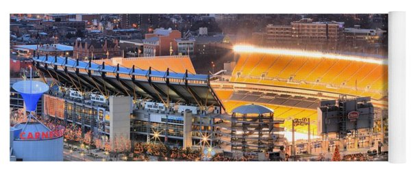 Heinz Field At Night Yoga Mat
