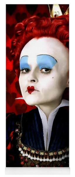Helena Bonham Carter As The Red Queen In The Film Alice In Wonderland Yoga Mat