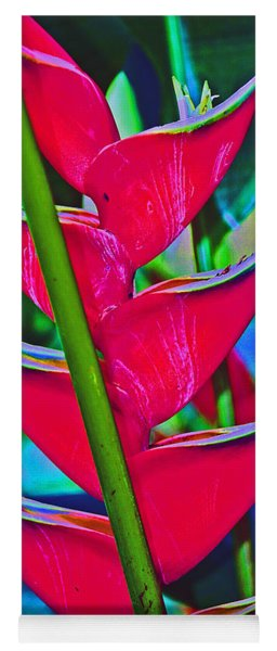 Heliconia Abstract Yoga Mat