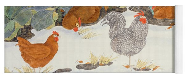 Hens In The Vegetable Patch Yoga Mat