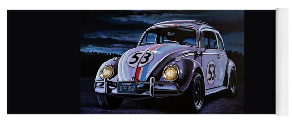 Herbie The Love Bug Painting Yoga Mat