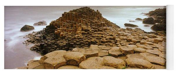 Hexagonal Rock At Giants Causeway Yoga Mat
