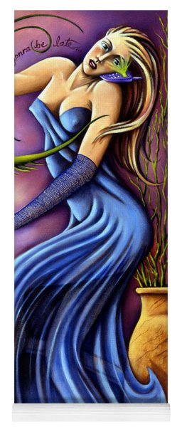 Yoga Mat featuring the painting Hi Honey I'm Gonna Be Late by Valerie White