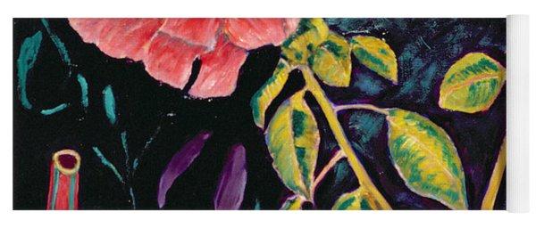 Hibiscus With Vase Yoga Mat