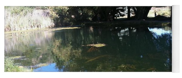 Yoga Mat featuring the photograph Hidden Pond by Gina Bonelli