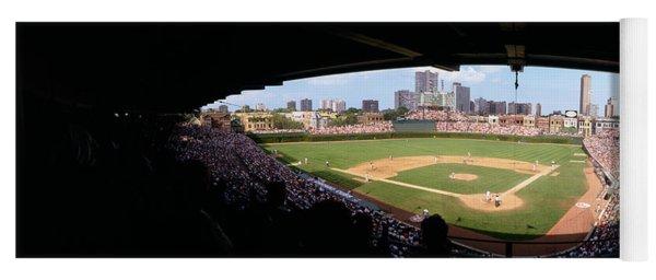 High Angle View Of A Baseball Stadium Yoga Mat