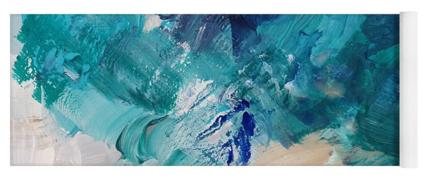 High As A Mountain- Contemporary Abstract Painting Yoga Mat