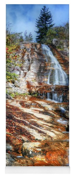 High Falls At Graveyard Fields On The Blue Ridge Parkway Yoga Mat