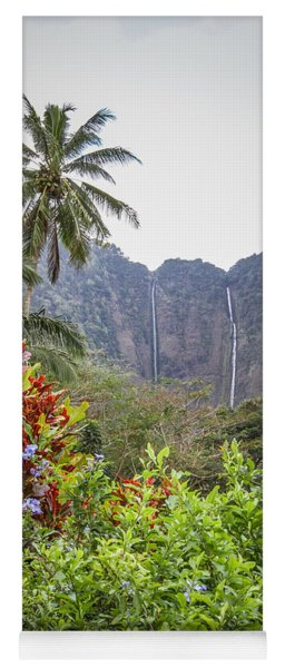 Hiilawe And Hakalaoa Falls Yoga Mat
