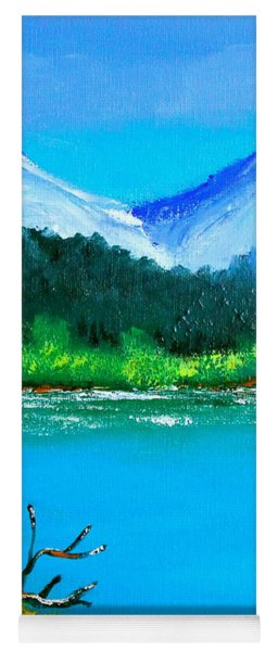 Hills By The Lake Yoga Mat