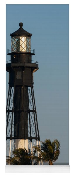 Hillsboro Inlet Lighthouse In The Evening Yoga Mat