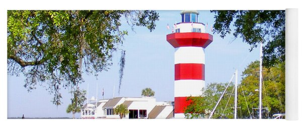 Hilton Head Lighthouse And Marina Yoga Mat