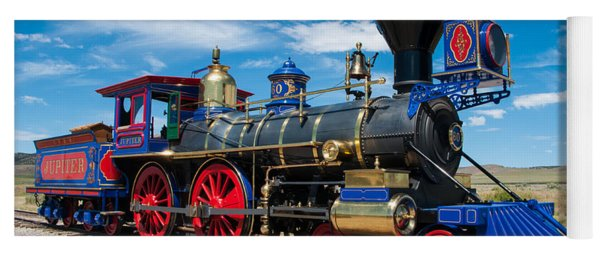Historic Jupiter Steam Locomotive - Promontory Point Yoga Mat