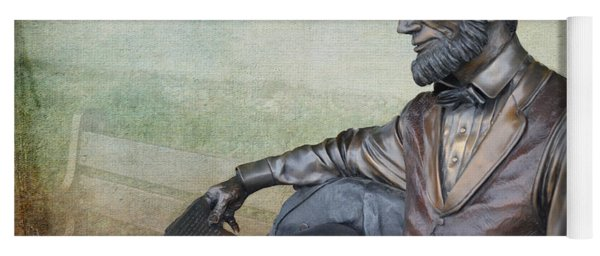 History - Abraham Lincoln Contemplates -  Luther Fine Art Yoga Mat