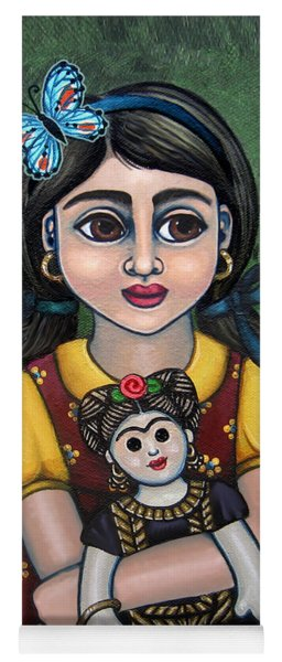 Holding Frida With Butterfly Yoga Mat