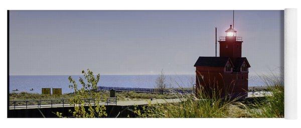 Holland Harbor Light  Yoga Mat