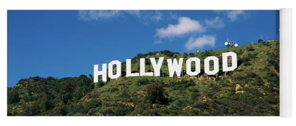 Hollywood Sign Hollwood Ca Usa Yoga Mat