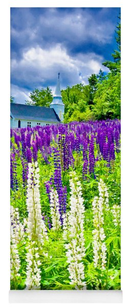 Holy Lupines Yoga Mat