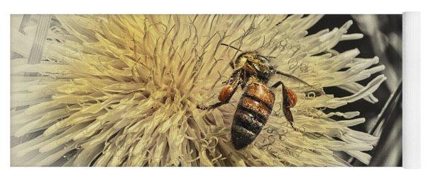 Honey Bee Meets Dandy Lion Yoga Mat