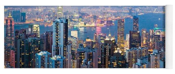Hong Kong At Dusk Yoga Mat