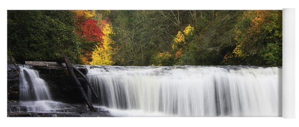 Hooker Falls In North Carolina Yoga Mat