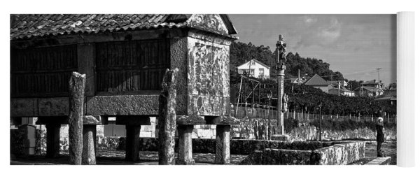Horreo And Cruceiro In Galicia Bw Yoga Mat