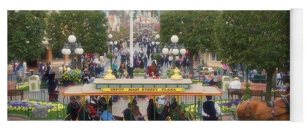 Horse And Trolley Main Street Disneyland 02 Yoga Mat