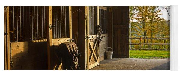 Horse Barn Sunset Yoga Mat