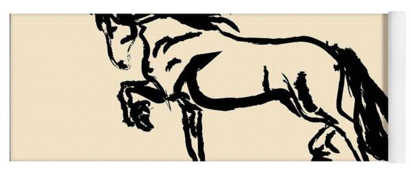 Horse - Blacky Yoga Mat