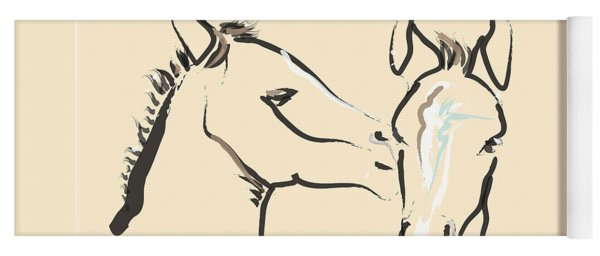 Horse-foals-together 6 Yoga Mat