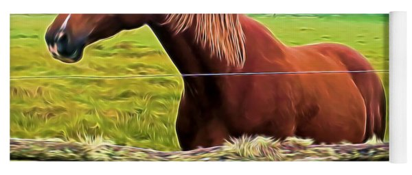 Horse In The Pasture Yoga Mat