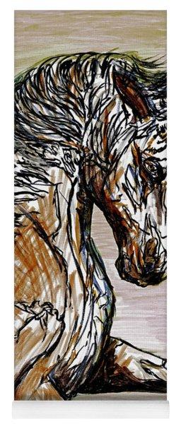 Horse Twins I Yoga Mat