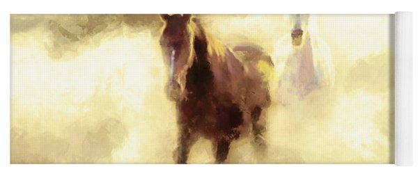 Horses Of The Mist Yoga Mat