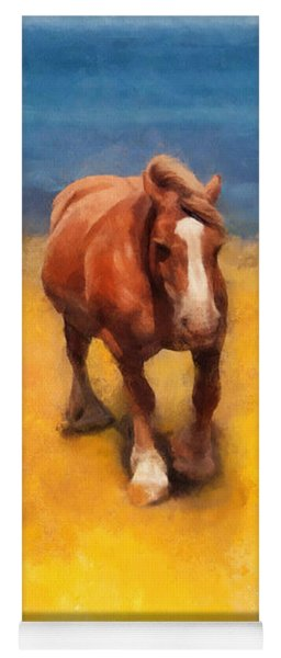 Horses On The Coast Of Brittany Yoga Mat