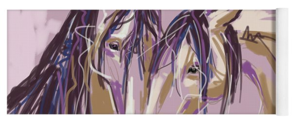 horses Purple pair Yoga Mat