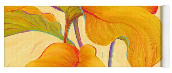 Yoga Mat featuring the painting Hosta Hoofers by Sandi Whetzel