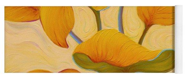 Yoga Mat featuring the painting Hosta Hoofin' by Sandi Whetzel