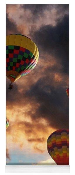 Hot Air Balloons - Chasing The Horizon Yoga Mat